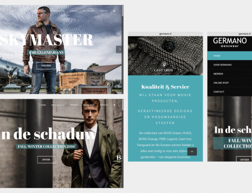 Website en webshop mannenmode: Germano