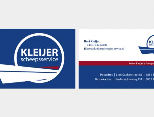 Logodesign & visitekaartje Kleijer Scheepsservice