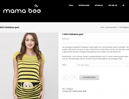 Webshop positiekleding: Mama Boo